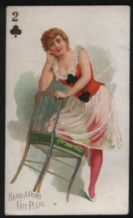 Cigarette card card 1890 beauty USA Moore & Calvi #12